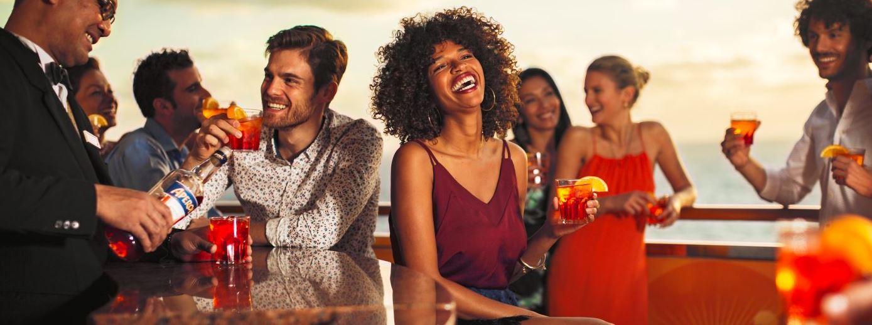 Aperol Spriz Bar en El barco Costa Esmeralda