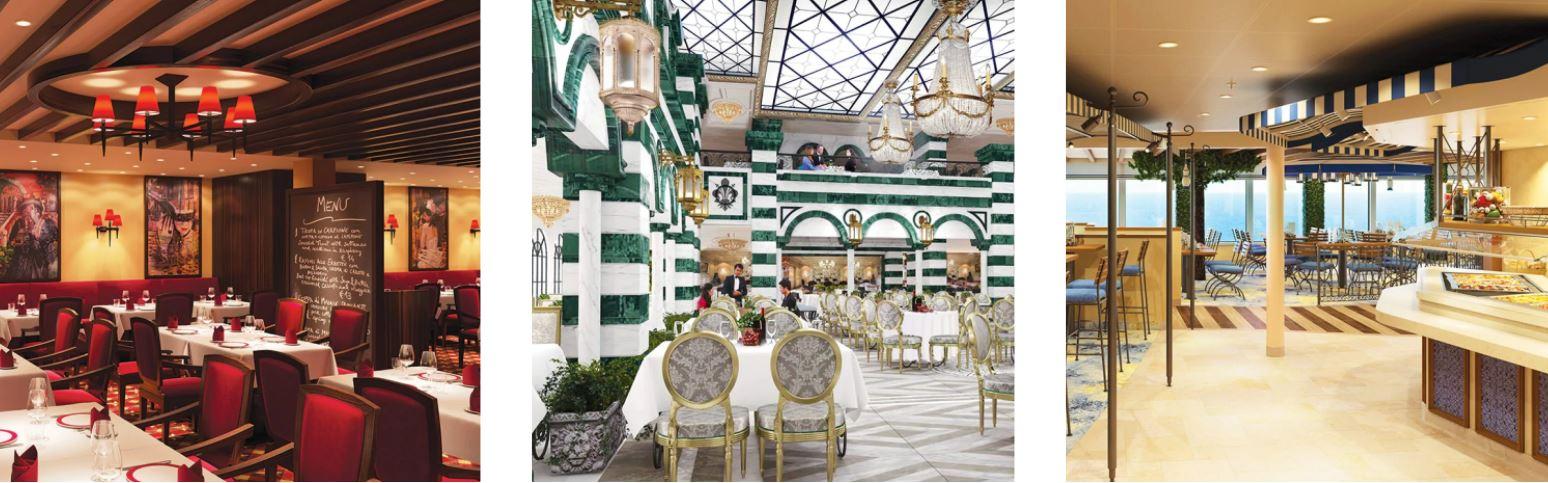 Restaurantes y Gastronomia en Barco Costa Firenze de Costa Cruceros