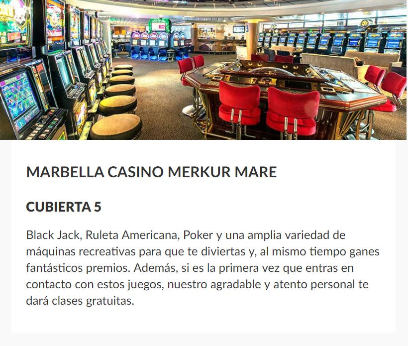 Casino Barco Sovereign Pullmantur