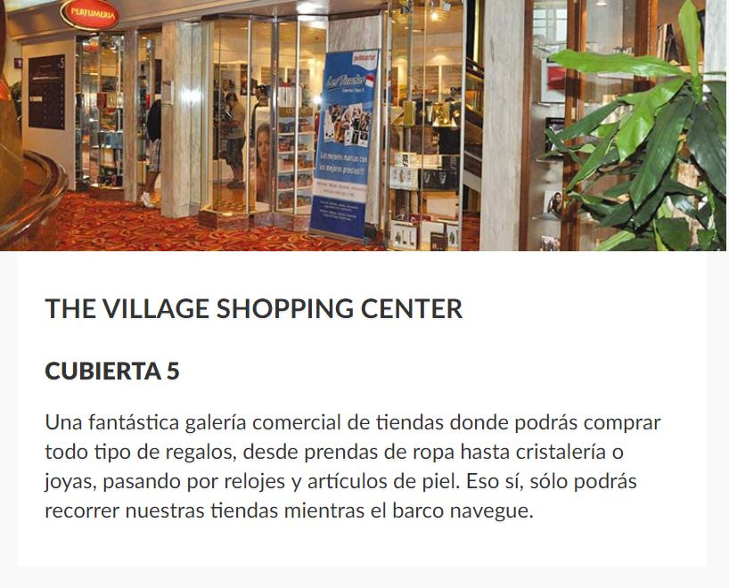 Tiendas Barco Sovereign Pullmantur Duty Free