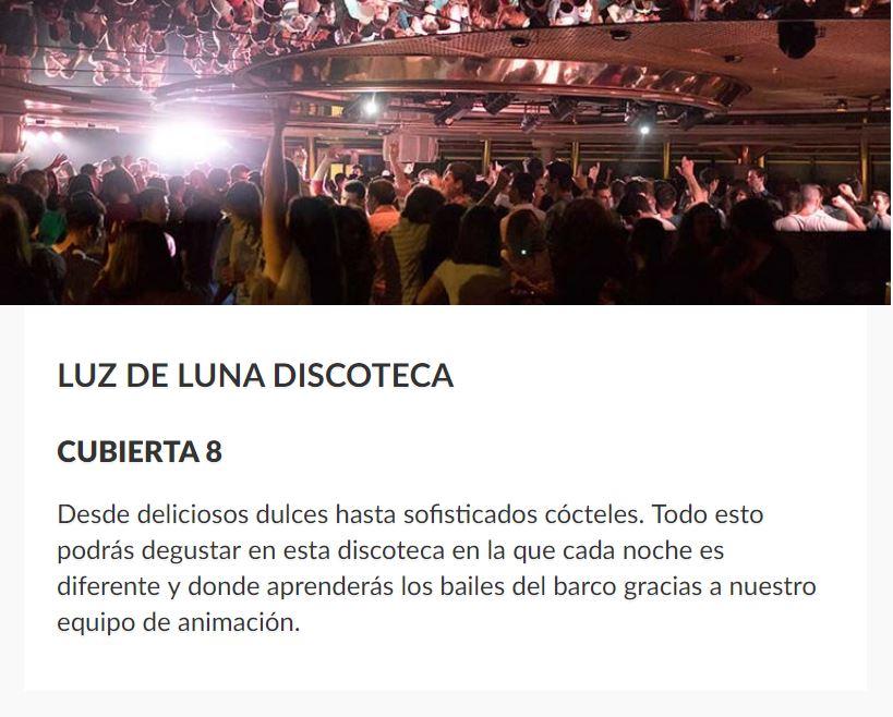 Fiestas en Discoteca Barco Sovereign Pullmantur B2Bviajes