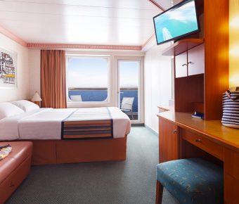 Camarote exterior con balcón vista al mar - Barco Costa Pacífica