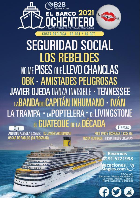 Cartel Artistas Barco Ochentero 2021