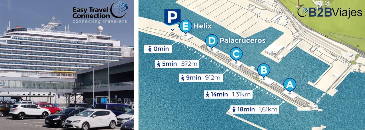 Como llegar Parking Port de Barcelona Terminal de Cruceros Pullmantur B2Bviajes