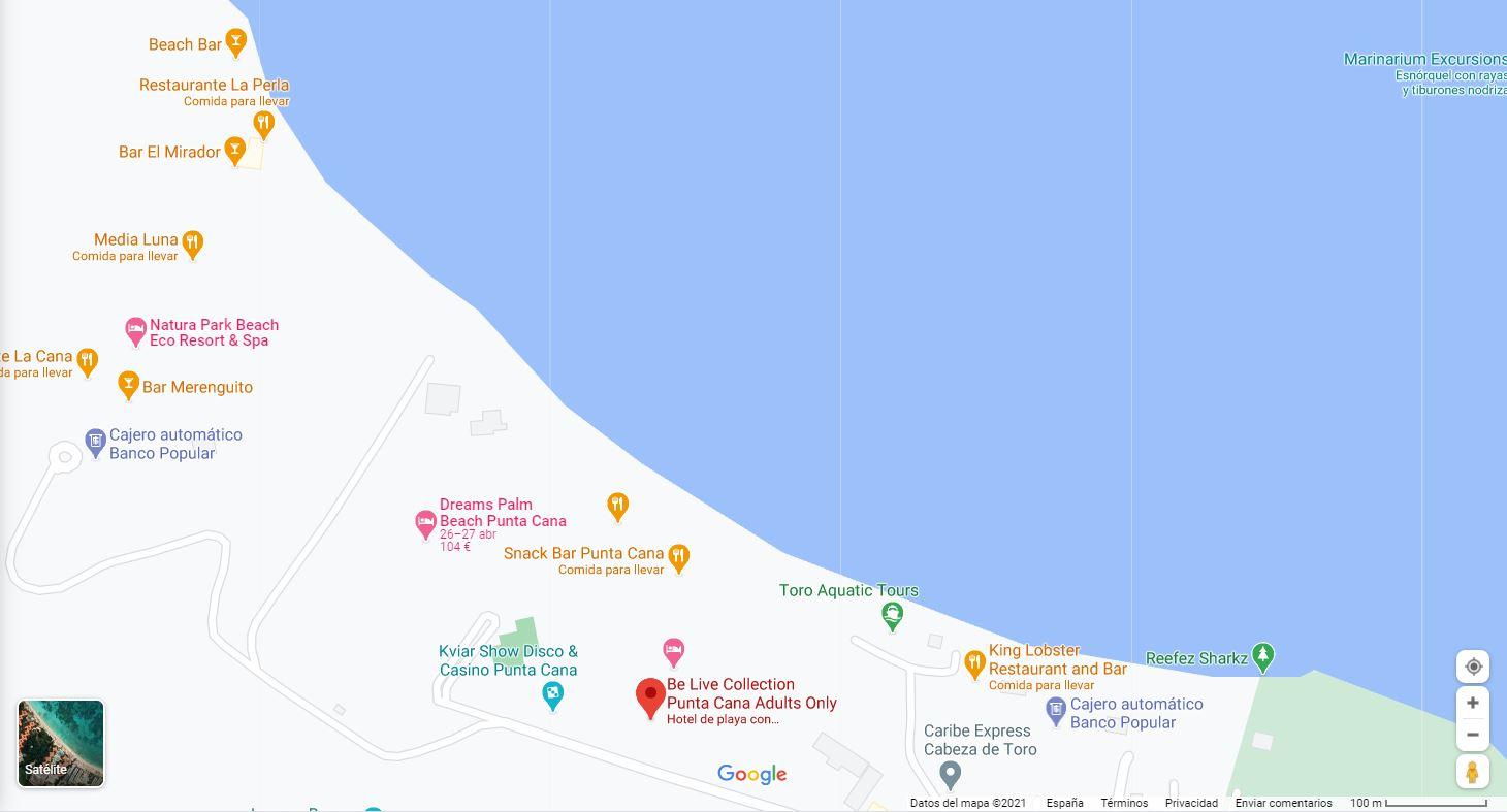 Ubicacion como llegar Hotel Be Live colection Punta Cana