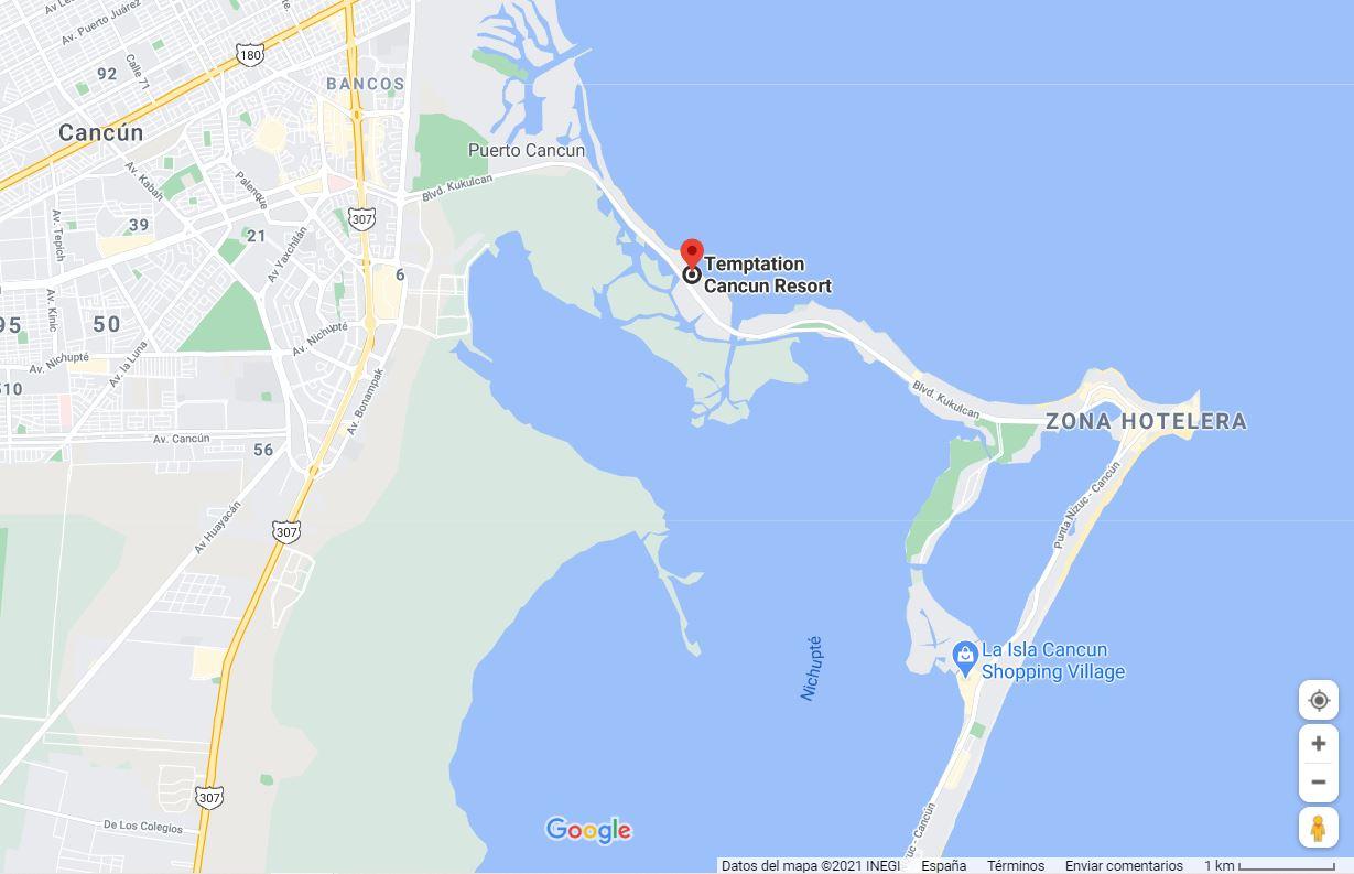 Hotel temptation cancun como llegar ubicacion b2b viajes