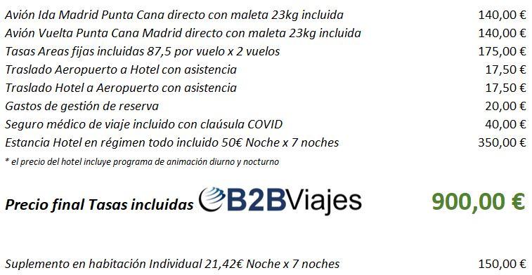 Precios oferta Punta Cana en Habitacion Individual y o Doble Compartida Vacaciones Singles