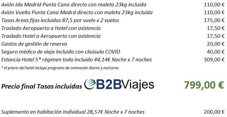 Oferta precios Punta Cana con vuelos todo incluido de Vacaciones Singles y B2Bviajes
