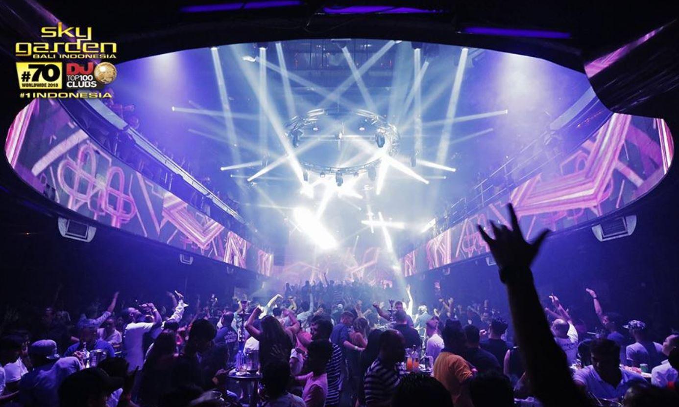 Discoteca Sky Garden Legian Bali para salir de copas