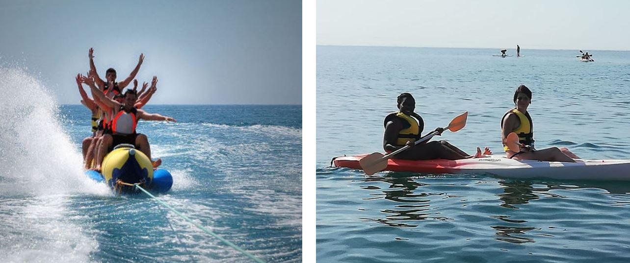 Actividad de Banana o Kayak en viaje Vacaciones Singles costa Brava