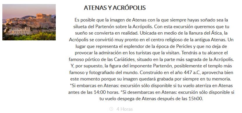 Excursión Atenas y Acrópolis