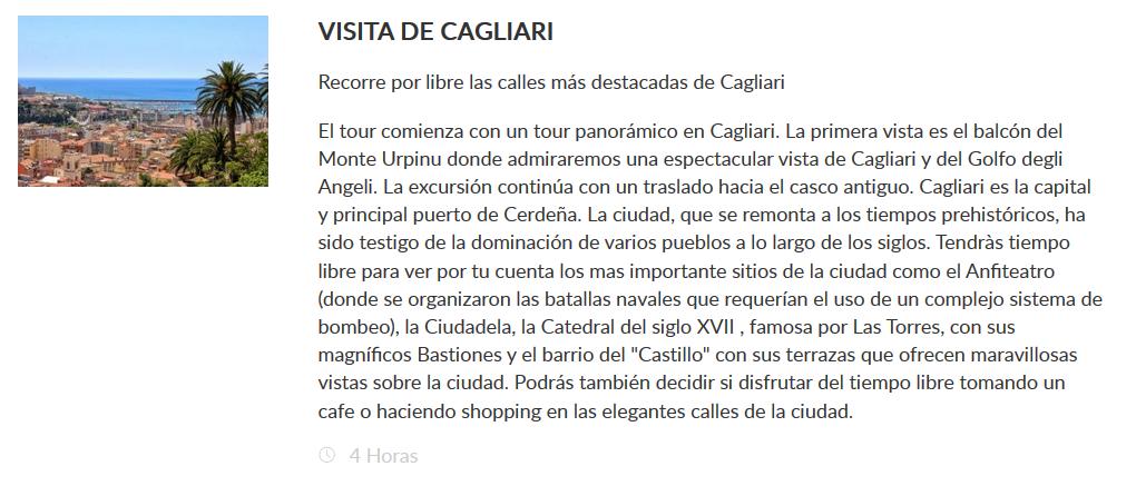 Excursión Cagliari