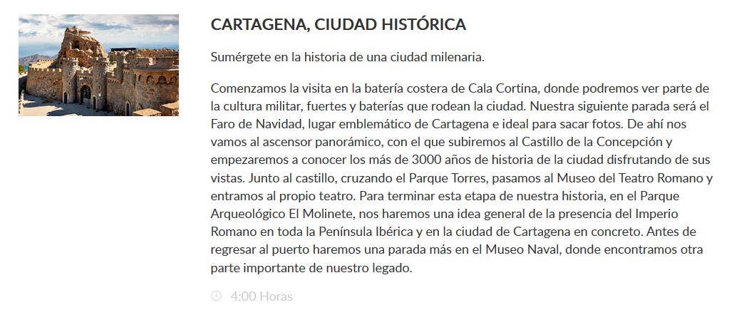 Excursión Cartagena