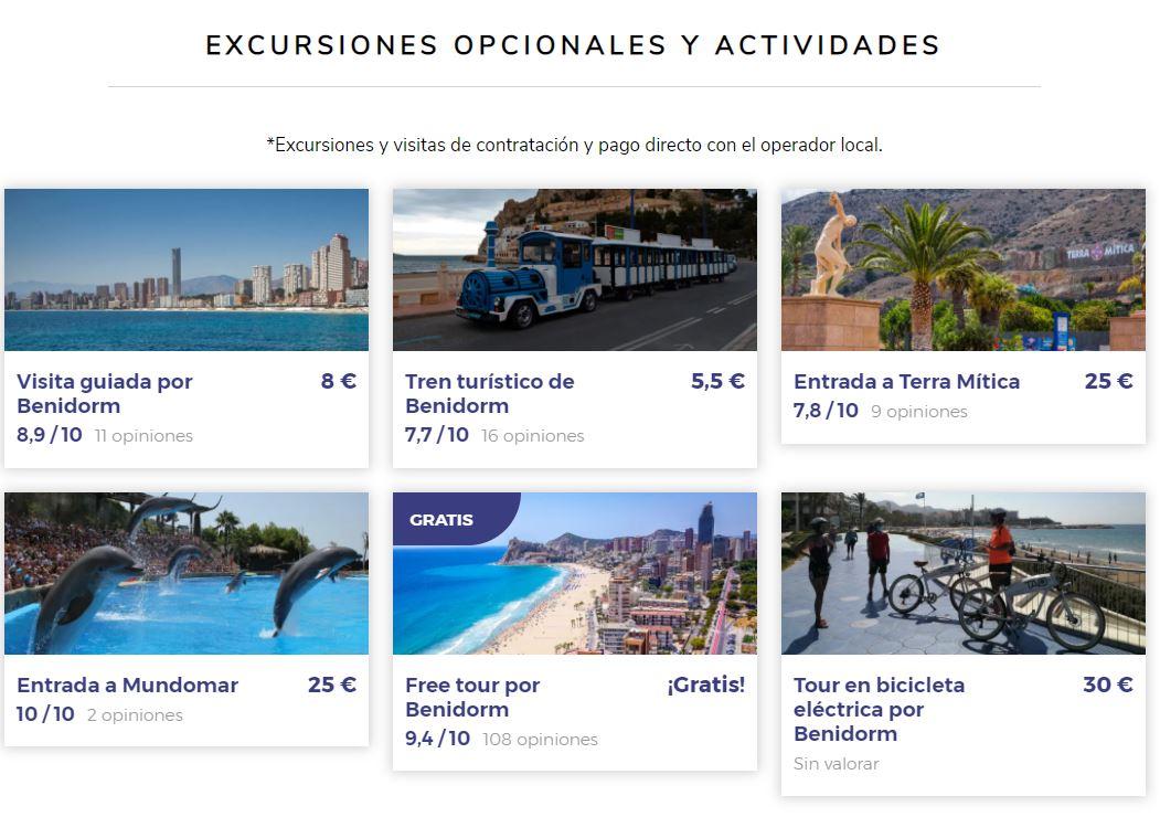Excursiones y actividades en viajes para viajeros solteros a Benidorm