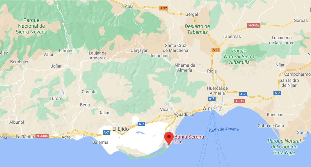 Hotel Bahia Serena Roquetas de Mar Almeria Ubicacion b2bviajes