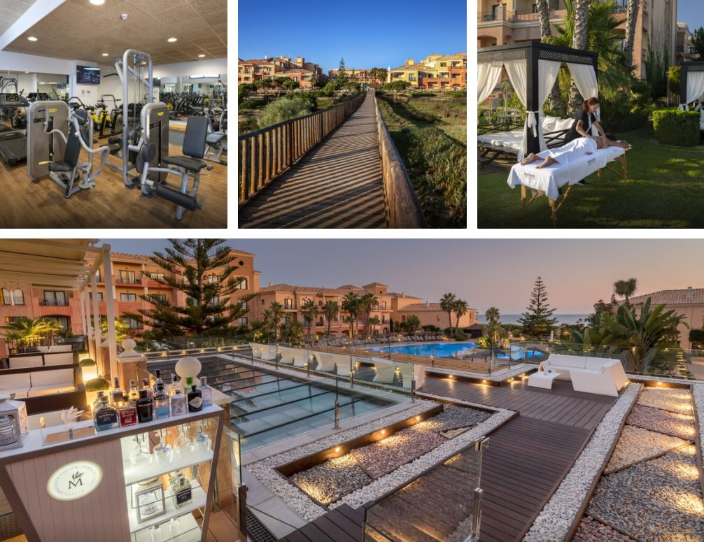 Hotel Barcelo Punta Umbria Mar Huelva Gimnasio y Camas Balinesas
