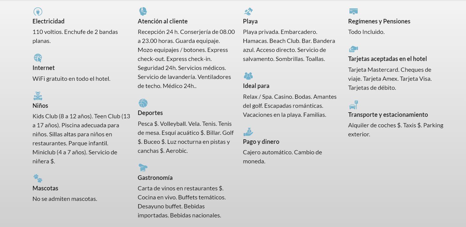 Servicios del Hotel Be Live Colection Punta Cana