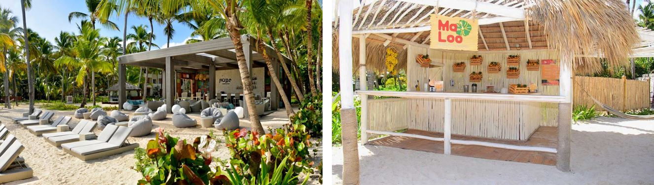 Chiringuitos playa hotel Catalonia Bavaro Punta Cana