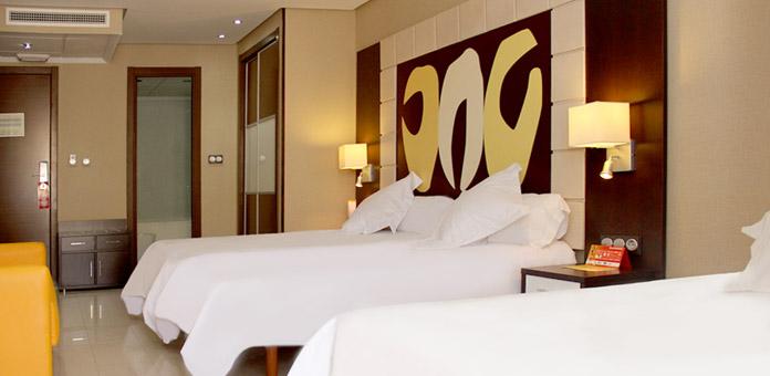 Habitaciones dobles del Hotel Gran Duque viajes para solteros