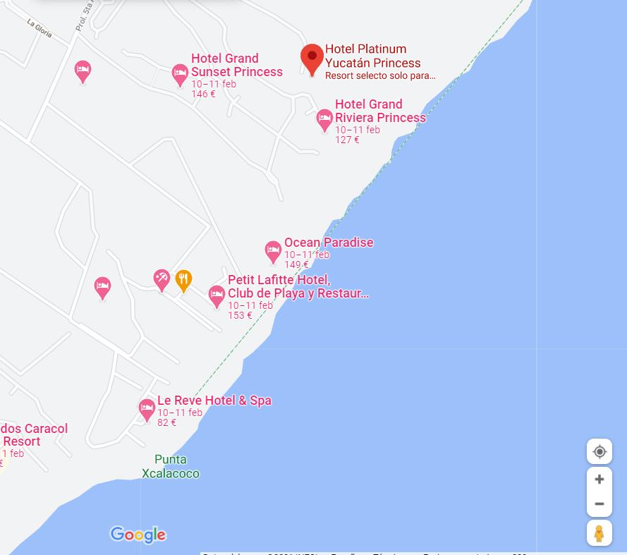 como llegar ubicacion hotel platinum yucatan princess viajes singles