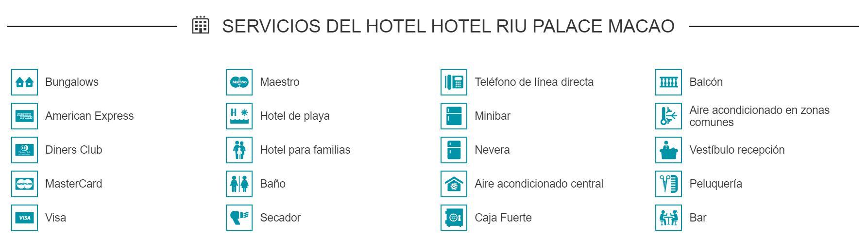 Servicios del Hotel Riu Palace Macao Punta Cana