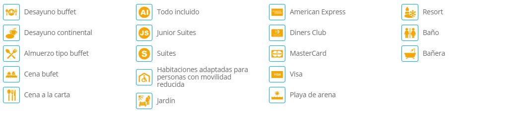Servicios incluidos en el Hotel Riu Palace Riviera Maya