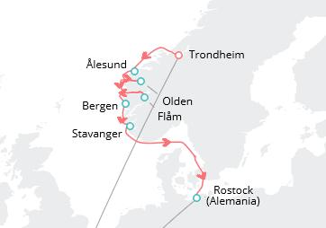 Itinerario Crucero Fiordos 2018