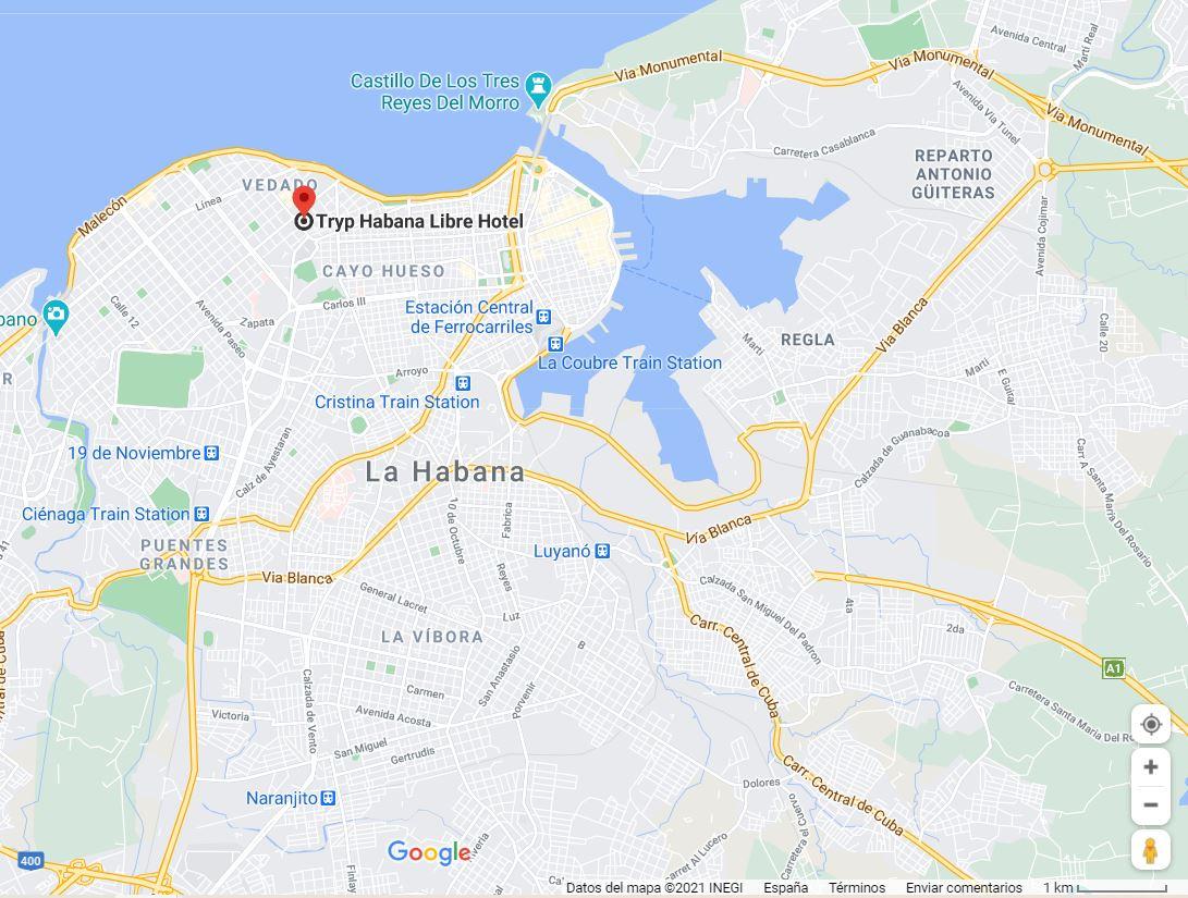 hotel tryp habana libre como llegar ubicacion oferta b2b viajes
