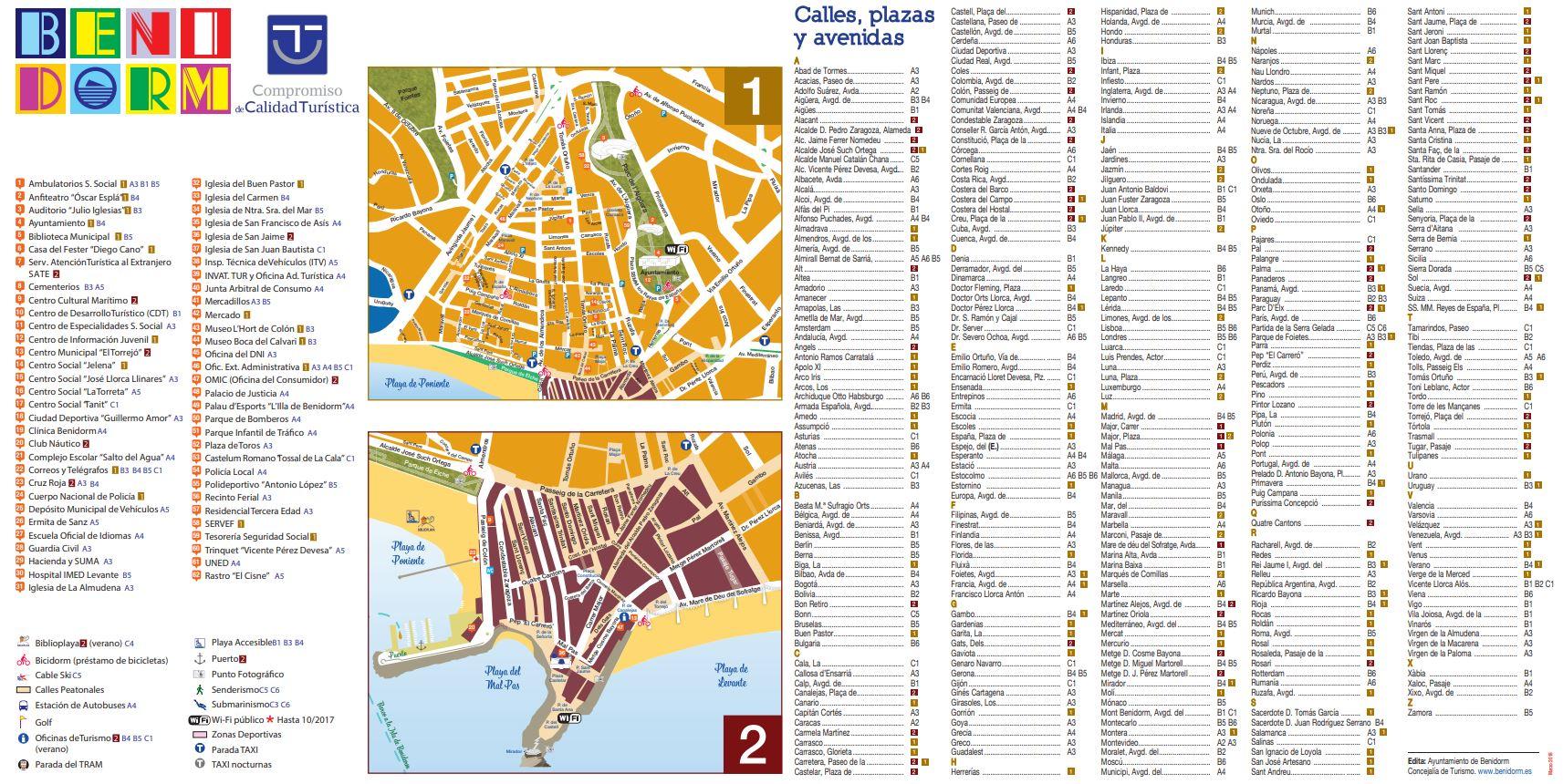 mapa Benidorm Plano Ciudad B2Bviajes