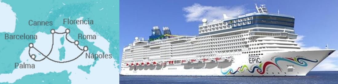 Itinerario Crucero EPIC Single Jóvenes