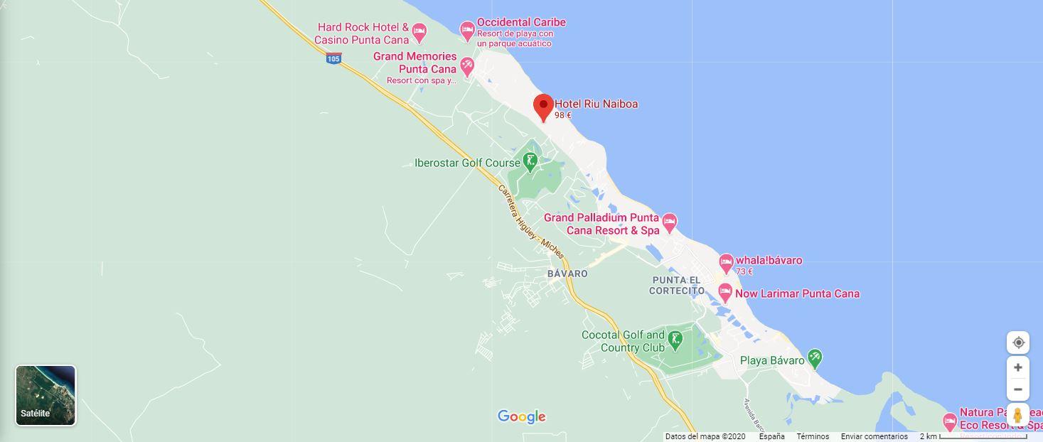 mapa ubicacion Hotel Riu Miboa Punta Cana Como llegar