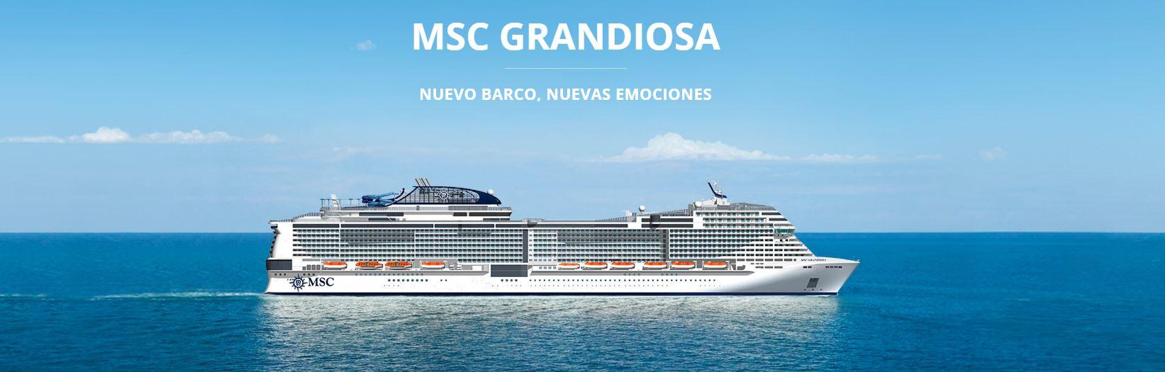 Oferta Crucero de Lujo MSC Grandiosa Mediterraneo 2020