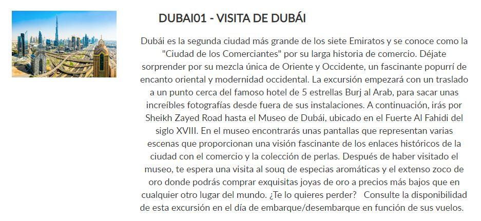 Excursión Dubai _ Paquete Conoce _ Crucero Dubai y Leyendas de Arabia