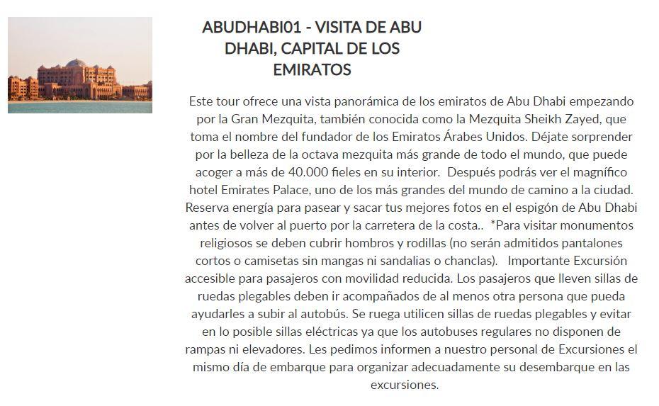 Excursión Abu Dhabi _ Paquete Conoce _ Crucero Dubai y Leyendas de Arabia