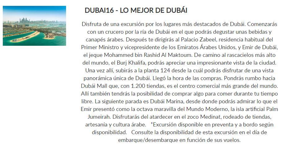 Excursión Dubai _ Paquete Descubre _ Crucero Dubai y Leyendas de Arabia