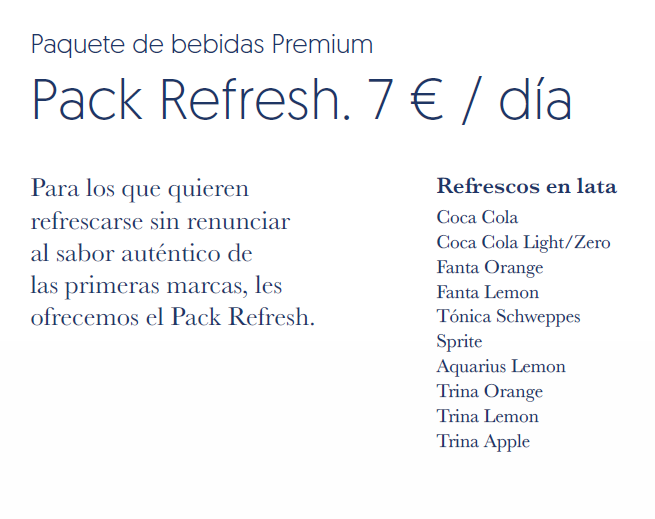 Pack refresh Pullmantur