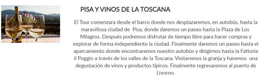 pisa y vinos de toscana