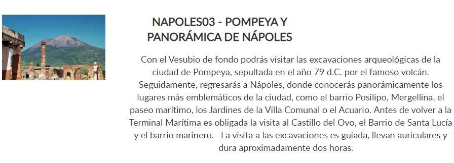pompeya y panoramica de napoles