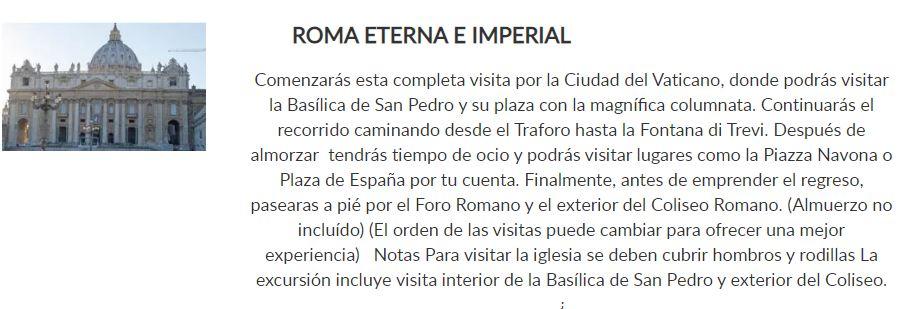 roma eterna e imperial