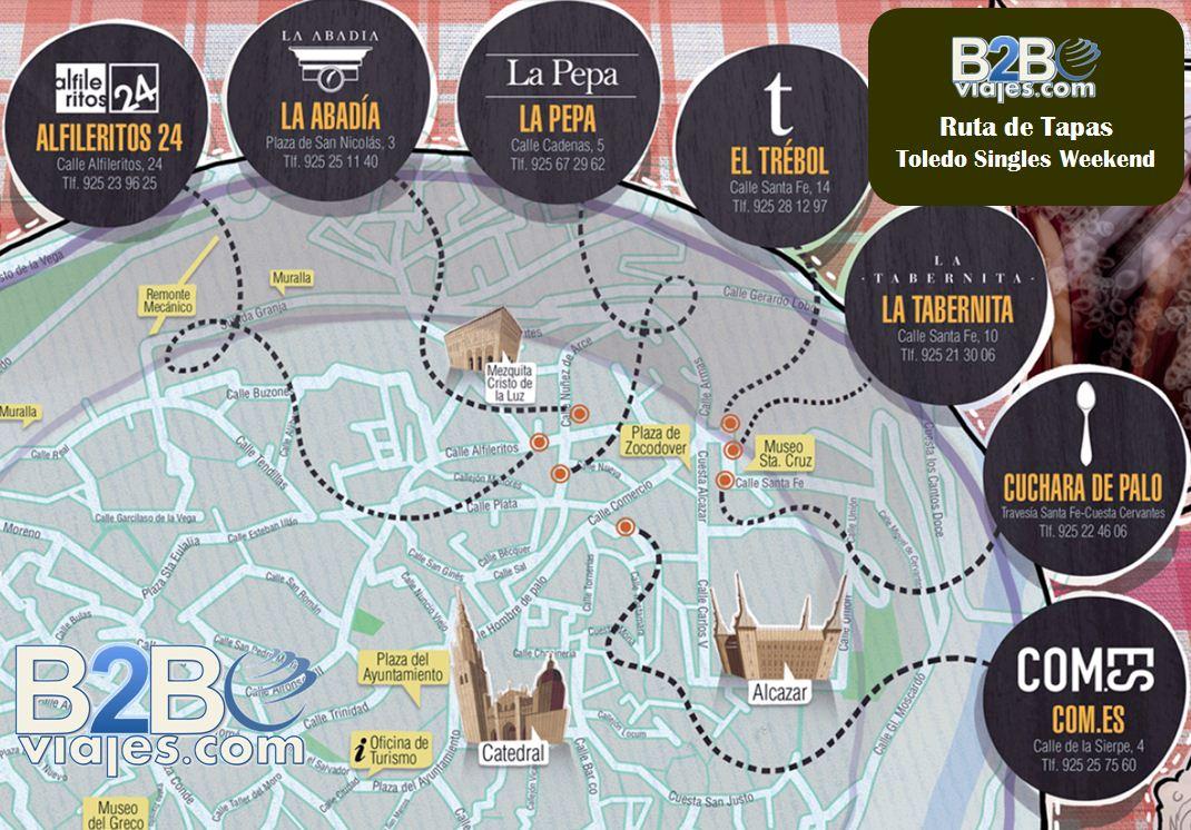 Ruta de Gastronómica y de tapas por Toledo. b2b Viajes