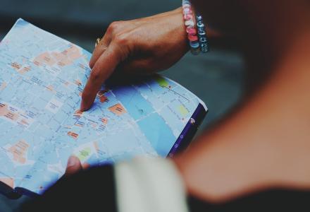 Mapa viaje destino single