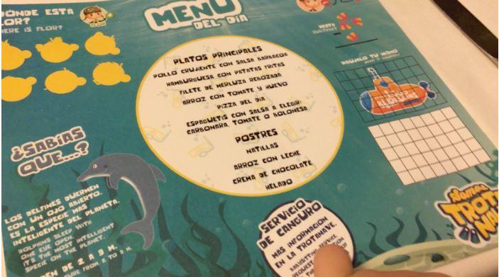 servicio canguro y menu niños pulmantur